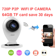 64G save 30day baby monitor camera 720P H.380 P2P network camera Video Surveillance WiFi IP Camera P2P camera 1K peopel to watch(China)
