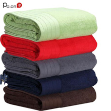 "100% combed Cotton quick absorbency solid dobby bath towel in large size 90x180cm(36x70"") high quality(China)"