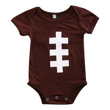 2017 Newborn Toddler Baby Girls Rugby Cotton Casual Jumpsuit Bodysuit Infant Outfit Sunsuit(China)