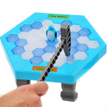 Ice Breaking Save The Penguin Kids Fun Board Game Table Fidget Breaker Bricks Toy Gags Practical Jokes Puzzle Toys for Children(China)