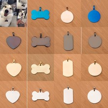 Hipidog Free engraving Pet cat collar accessories Decoration Pet ID Dog Tags Collars stainless steel dog cat tag customized tag(China)