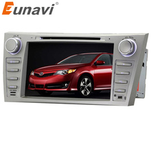 Eunavi Yicoo 8 inch Car DVD Player GPS Navigation System For Toyota Camry 2007 2008 2009 2010 2011 BT Steering wheel control