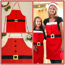 Christmas Santa Kids Apron Home Kitchen Cooking Chef Red Funny Apron Xmas Gifts