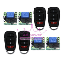 Free Shipping DC 12V 10A 1CH 1000M 4 Transmitter & 4 Receiver Radio Frequency Wireless Remote Control System