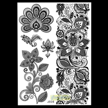 1 Sheet Poular Exquisite Women Sexy Flower Bracelet Template Nontoxic Tattoo BJ036 Lotus Sheet Stickers Temporary Tattoo Sticker