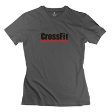 Great Crossfit Bloemfontein Logo Redblack Women tshirt 2015 Famous Short Sleeve Cotton Lady's t shirt at Factory Price