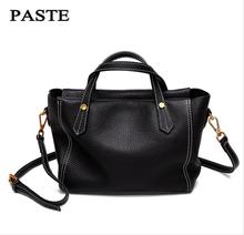 PASTE The New Fashion Soft Leather Bag  The Package Leather Handbags Head Layer  Leather Simple Personality Messenger Bag Female