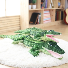 1 PCS Large Stuffed Animal Simulation Alligator Plush Toy Birthday Gifts for Kids 39.4""