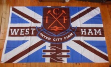 WEST HAM UNITED ICF INTER CITY FIRM 3 X 5FT UNION JACK Large Outdoor Flag 3' x 5' Banner metal holes Custom Flag