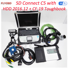 New Full Chip MB STAR C5 with HDD 2017.07 Software Vediamo DTS with Laptop CF19 Diagnostic PC for MB SD C5 Full Set Ready To Use