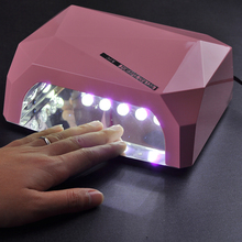 36W Nail Dryer Red Diamond Shape LED UV CCFL Light Gel Curing Lamps 2016 New Popular Drying Gel Polish Nail Art Tools