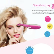 Mini Size Electric Heated Eyelash Curler Light Weight Long Lasting Dust-proof Cover Low Consumption Beauty Eye Makeup Tool