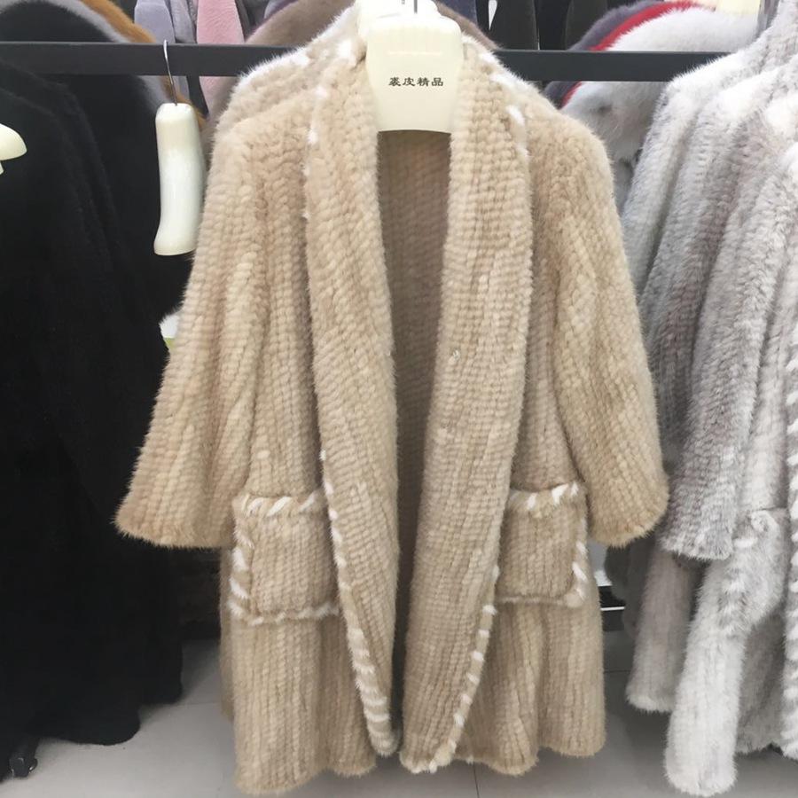 women luxury genuine real knitted mink fur shawls (1)
