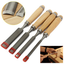 Gouge Chisel Real Herramientas Carpinteria Facas Sale Rushed Chisel Carpintaria 4pcs Woodworking Hand Wood Firmer Gouge Set(China)