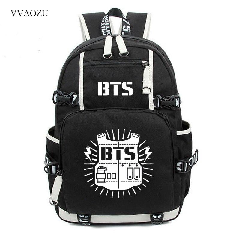 Bangtan Boys BTS Backpack Rucksacks JUNG KOOK JIMIN Printing Student School Bags Travel Laptop Shoulder Bag Mochila Satchel<br>