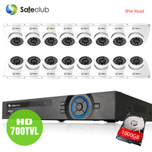 video surveillance IP66 700tvl security In/outdoor camera system 16channel hdmi 1080p AHD dvr system usb 3g wifi dvr