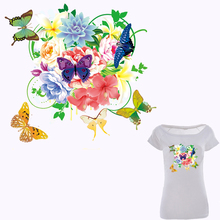 Colife Patches For Clothes Colorful Flowers Patch DIY Accessory A-level Washable Heat Transfer Ironing Stickers Appliques