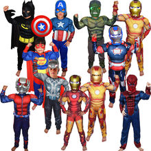 Super Hero Jumpsuit Captain America SpiderMan Superman Batman IronMan Thor Avengers muscle  Cosplay Costumes Halloween Gift