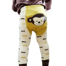 2017 Brand Unisex Cartoon Bee Monkey Rabbit Tights Baby Girl Boy Cotton Stocking Children Pantyhose Slim Pants S1(China)