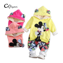 CUYIZAN Spring Autumn baby girls christmas outfits Sport suit clothing set children hoodies pants kids minnie mouse clothes sets(China)