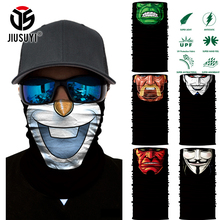 3D Seamless Magic Headband Neck Warmer Gaiter Face Mask Multifunctional Cartoon Face Men Skull Head Scarf Bandana Headwear Men