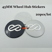 20pcs/lot Best Match ABS 45mm Modified Car Wheel hub Sticker Auto Wheel Center Label Emblem Badge Logo Decals Styling(China)