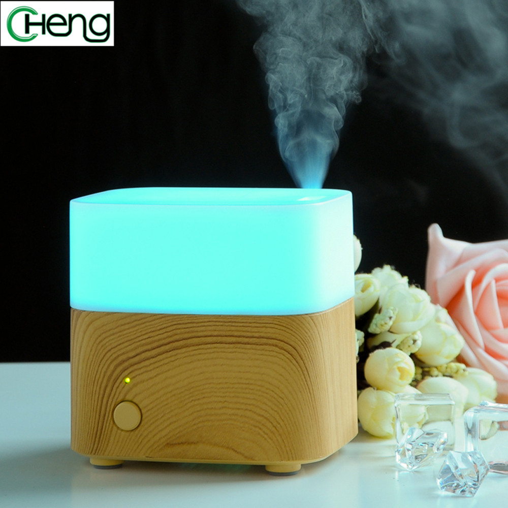 120ml LED Colors Changing Mini Essential Oil Diffuser Fragrances Ultrasonic  Humidifier  Fogger Maker with for house or office<br>