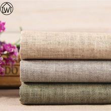 100% Linen Non Woven Felt Cotton Fabric for DIY Sewing Wax Coating Solid Kids Bedding Fabric Apparel Sewing Tecido Seda(China)