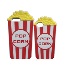 "3D Lovely Pop Corn Soft Silicone Case For iPhone 4S 5S 5C SE 6 6S 7 7 Plus 5.5"" Popcorn Cover(China)"