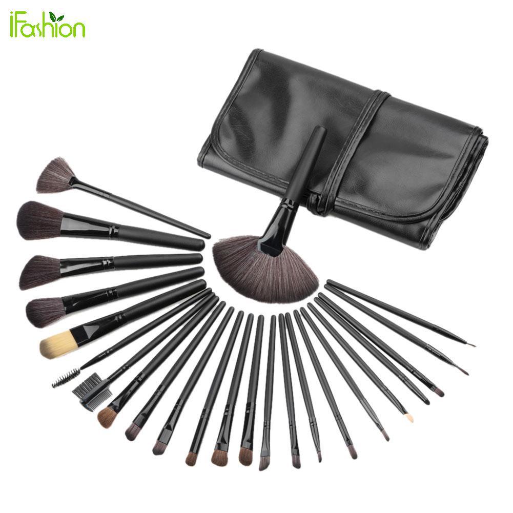 Makeup Eye Shadow Eyebrow Brushes Set 24 Pcs Mini Makeup Brushes Cosmetic Tool Kit EyeShadow Powder Blush Brush Make-up Set Case<br>