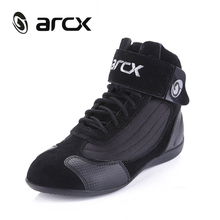 ARCX Motorcycle Riding Boots Street Moto Racing Boots Genuine Cow Leather Motorbike Biker Chopper Cruiser Touring Ankle Shoes