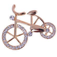 1Pcs Hot Selling New Beautiful Fashionable Brooches bike bicycle lovers pectoral flower gift brooch Pin For Women Jewelry
