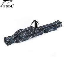 Portable Folding Fishing Rod Bag Carrier Canvas Fishing Pole Tools Storage Case Fishing Gear Tackle for Carp Fishing Pesca(China)