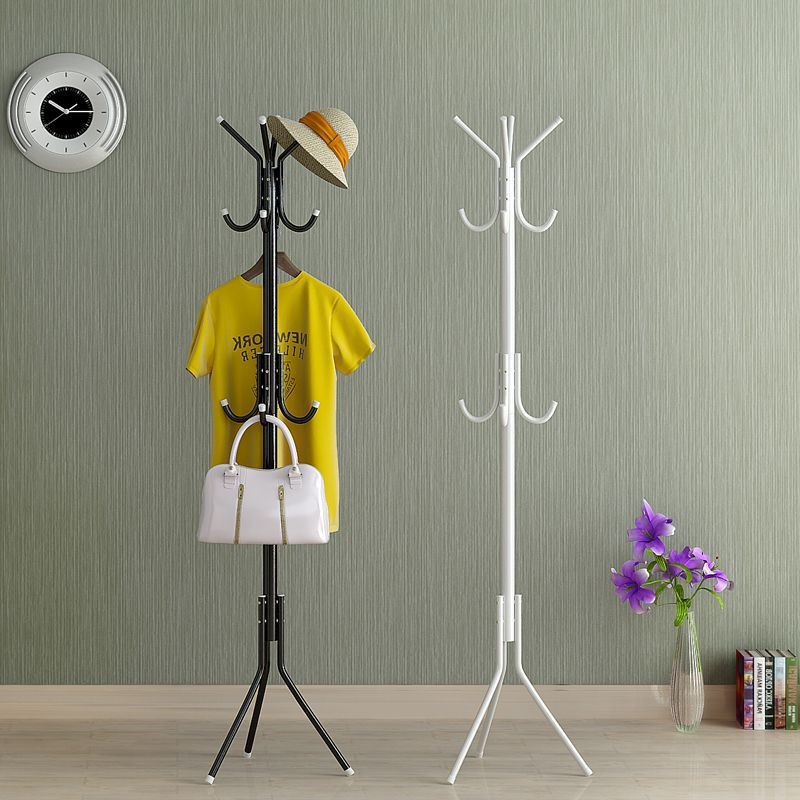 JZ0/2017 Hot Sale A Simple Landing Coatrack Office Iron Hangers Bedroom Clothes Rack Bag Frame Vertical Creative Hall 4 Colors<br>