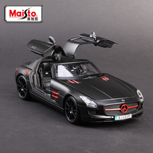 Free Shipping Zakka Maisto 1/18 large size die-cast car model for benz sls metal cars gift for children boys toys in box