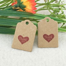 Size:3x2cm kraft tags 100PCS /lot  love Wedding kraft Tag for gift box and Paper Cards DIY Gift Tags for Handmade cake