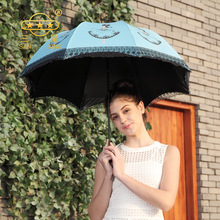 Folding Umbrella Parasol Rain Korean Kobold Women Anti UV Lightweight Sun Umbrellas Lace A+ Quality Chinese Parasols Corporation(China)