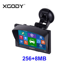 Xgody Gps Navigation 5 Inch For Car And Truck 256MB+8GB FM Sat Nav Navigator Navitel Russia Optional Lifetime Updated Map Free(China)