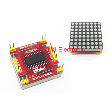 Red LED MAX7219 dot matrix module microcontroller module DIY KIT