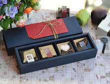 inner size27.9x7x4.9cm Black Drawer kraft paper gift box/ food biscuit cooky paper box/bread Cake paper box 100piece\lot
