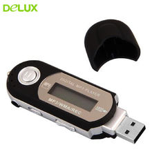 Delux Portable Mini 8GB LCD MP3 Player FM Radio USB Flash Drive Memory Stick Pen Drive Storage Microphone + Earphone(China)