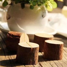 1pcs/lot Vintage Simple Nature Tree Stump design Wooden DIY Meaasge Clip Photo seat students' gift prize school office supplies(China)