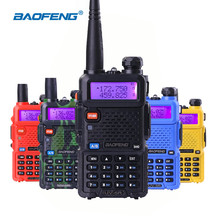 100% Original Baofeng UV-5R Walkie Talkie Handy Transceiver VHF UHF Dual Band Handheld Ham Radio uv5r Walkie-talkies for Hunting