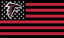 Atlanta Falcons Flag with Star and Stripes 3FTx5FT Black Red Patchwork Banner 100D Polyester Flag metal Grommets 90*150 CM