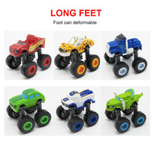 Blaze and the Monster Machines Vehicles Diecasts Toys Racer Cars Trucks Kids Funny Educational Toy 6 Colors(China)