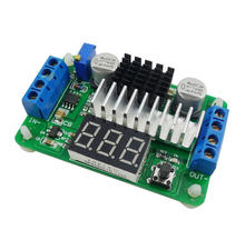 Red DC-DC LTC1871 Step Up Converter 3.5 to 30V 100W Boost Power Supply Module With LED Voltmeter(China)
