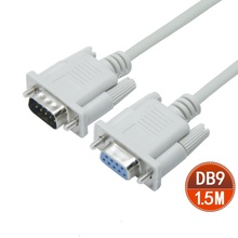 100pcs / lots DB9 9 pin Serial RS232 Extension M/F Male to Female Cable 5ft 1.5m ,Free shipping