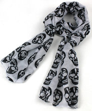 2014 New Fashion  women Autumn and winter scarf changed skull scarf shawl  Printed Woman Cotton scarf