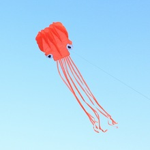 4m Single Line Stunt RED Octopus Power Sport Portable Flying Kite Outdoor Sports Gift Toys Kite Easy To Fly(China)