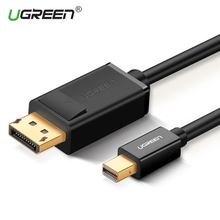 Ugreen HD Thunderbolt Mini Displayport to DisplayPort 1.2 Cable Adapter Mini DP to DP Converter for Macbook Pro Air Projector(China)